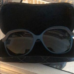 CHANEL TEAL GREEN SUNGLASSES
